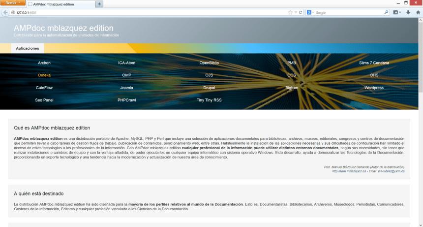 Impresión de pantalla de AMPdoc mblazquez edition