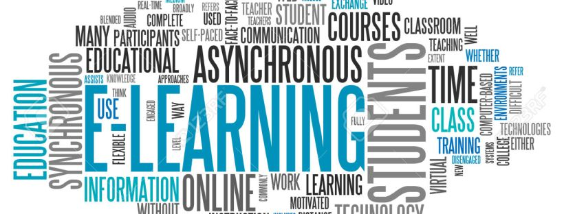 Word Cloud with E-Learning related tags