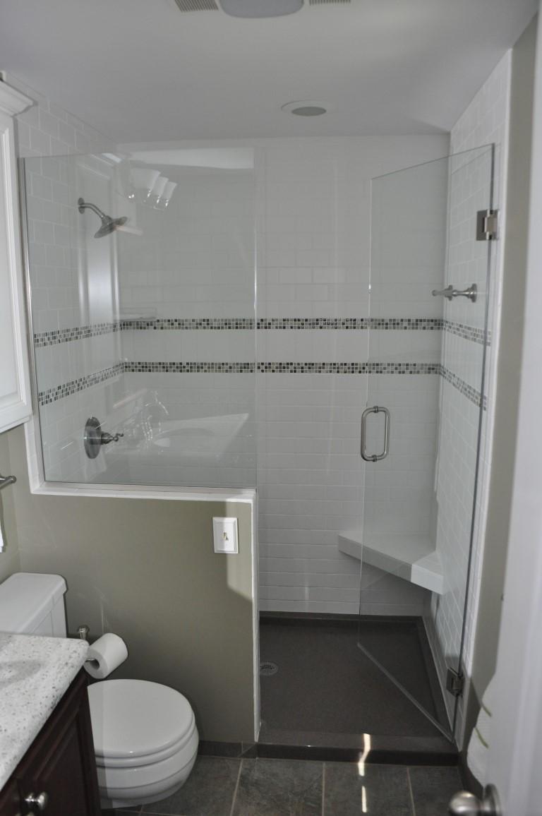 Lummy Installed Full Height Onyx Shower Frameless Shower Door Residential Bathroom Mccray Builders Onyx Shower Base Repair Onyx Shower Base Cleaning houzz 01 Onyx Shower Base