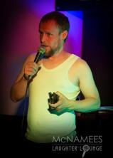 Owen Colgan - Enteraining the crowd McNamees Laughter Lounge