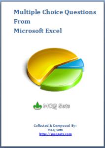 Download Microsoft Excel MCQ Bank