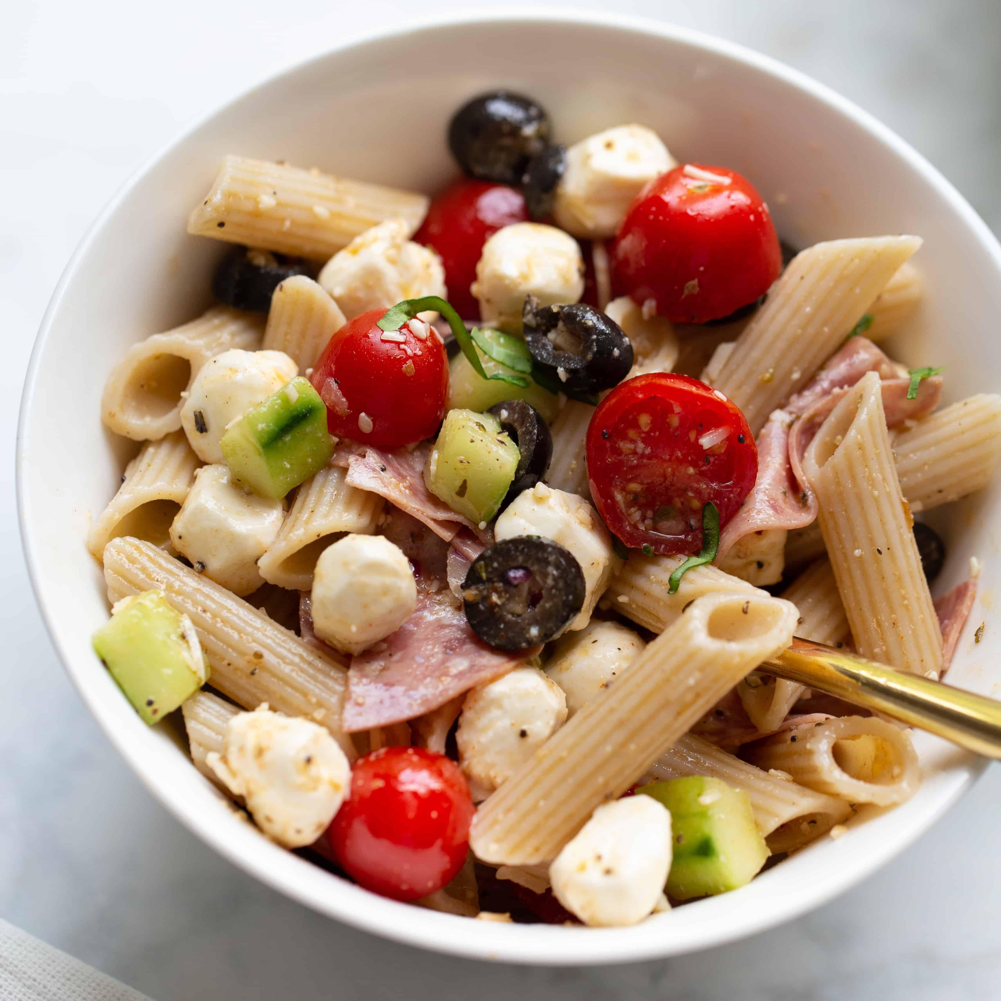 Fantastic Italian Pasta Salad Meaningful Eats Penne Pasta Salad Salami Penne Pasta Salad Calories nice food Penne Pasta Salad