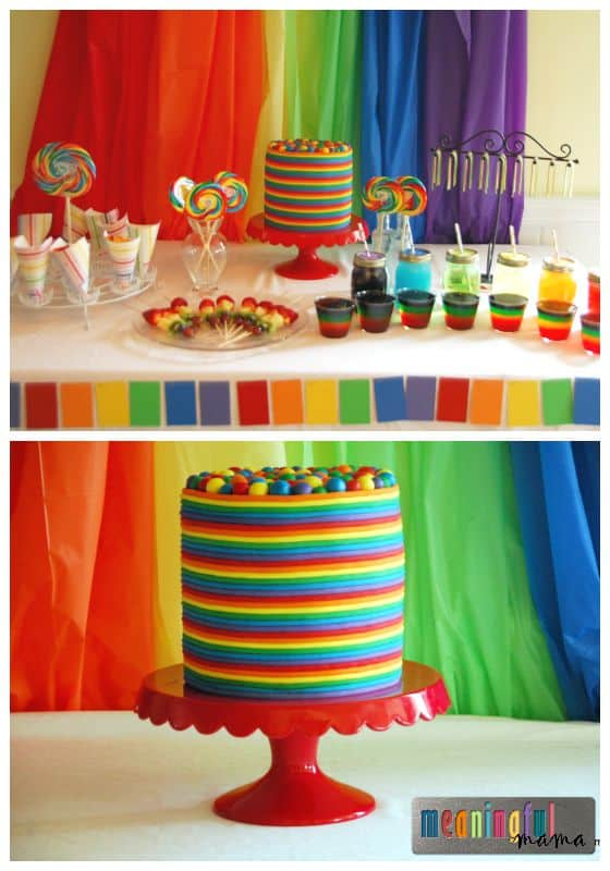 Rainbow Birthday Party Ideas - Cake, Decorations, Food and Games