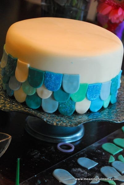 1-#mermaid party #cake #decorating-070