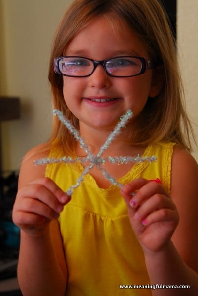 1-#snowflake craft #pipe cleaners #pom poms #kids-041