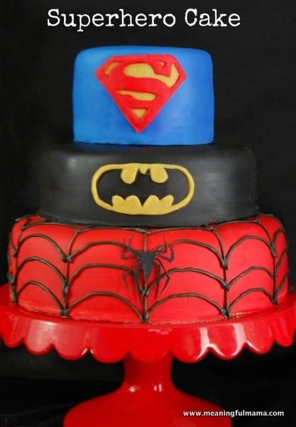1-#superhero cake #batman #spiderman #superman tutorial-001