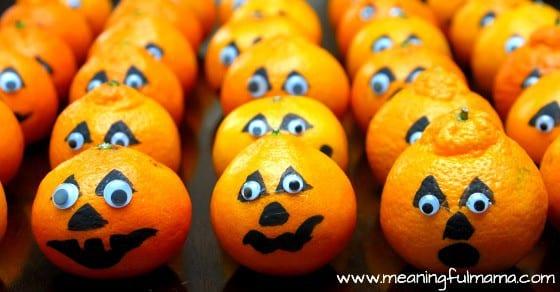 satsuma pumpkins healthy halloween snack harvest party