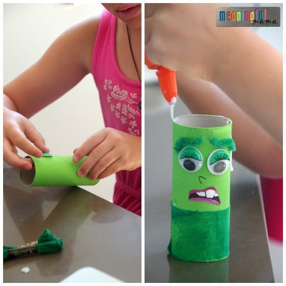 Pixar Inside Out Toilet Paper Roll Craft - Disgust