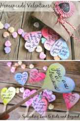 Homemade Valentine's Day Hearts - Spreading Love and Working on Character Development with Kids
