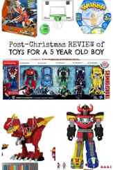 Toy Review for 5 Year old Boy