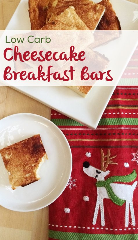 Low Carb Cheesecake Breakfast Bars