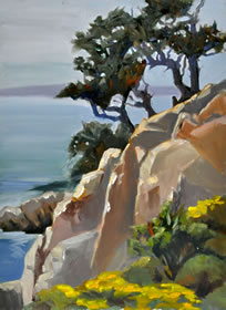 Point Lobos Pines 16x12