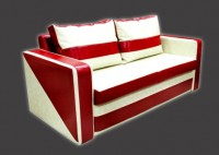Кожаный мягкий диван Квадре