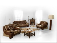 Комплект кожаной мягкой мебели 2323DJ (3+2+1)