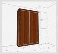 Стандартный шкаф-купе 2-х дверный шк261