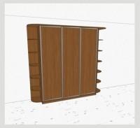 Стандартный шкаф-купе 3-х дверный шк361 к(л)к(п)