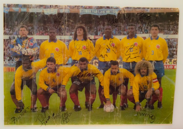 Andrew's Colombia 1994 World Cup team autographed poster