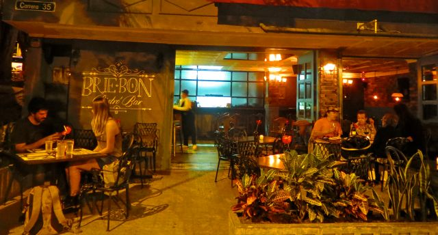The beautiful setting and trendy location make Brie Bon a great place to dine.