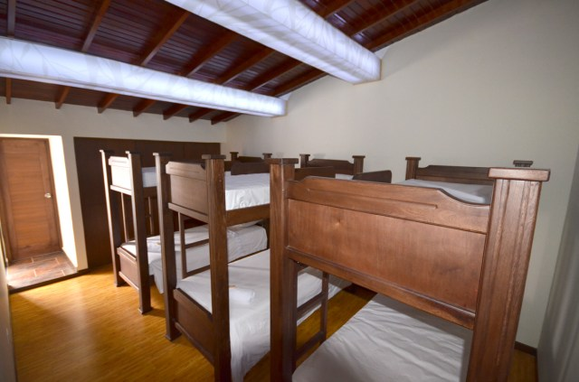 The dorms start at 30,000 pesos per night at Happy Buddha Boutique Hostel.