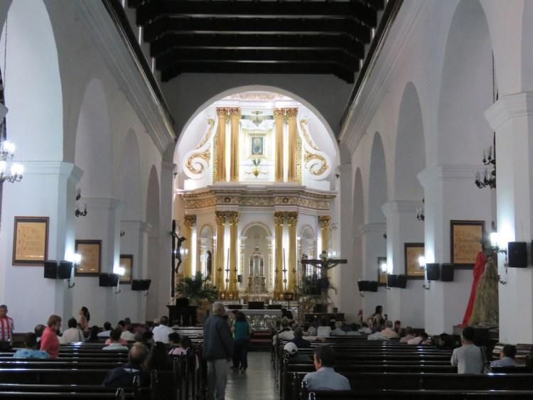 The Central Nave inside Iglesia de La Candelaria