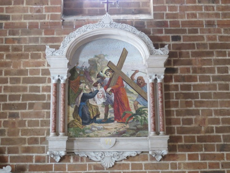 One of the many art pieces in the church