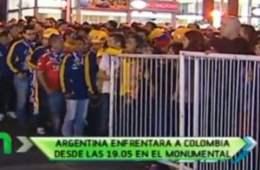 Por lo menos cinco mil colombianos no pudieron ingresar al estadio Monumental