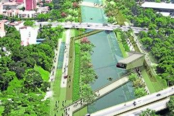 El parque tendrá tres sectores: sur, medio y norte, y ocho tramos a lo largo del río.