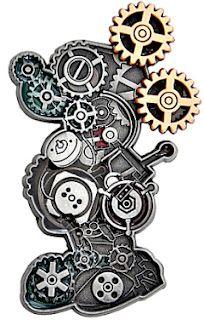Mickey Mouse  Steampunk Pin Trading gears Walt Disney World