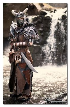 female orc with comic book