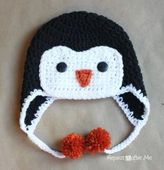 FREE Crochet Penguin Hat pattern! For Lillia