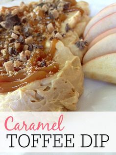 Caramel Toffee Dip | Frugally Blonde - Highlighted at the #HomeMattersParty 55