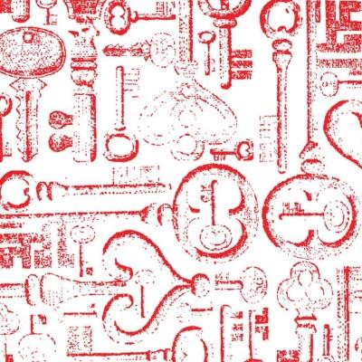 Jonathan Adler Wallpaper Keys Red | MAKING MY HOME (1) | Pinterest