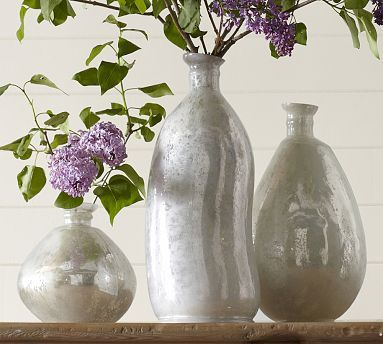 Milky Mercury Glass Vases from Pottery Barn | Mrs. Fancee