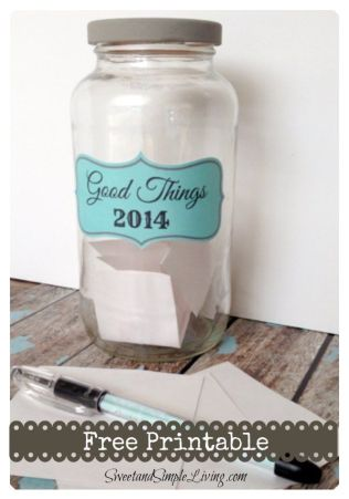 My Gratitude Jar for 2014 (free printable included)