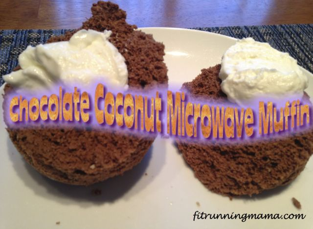 Gluten Free Chocolate Coconut Microwave Muffin! Easy, fast and healthy breakfast!!  fitrunningmama.com