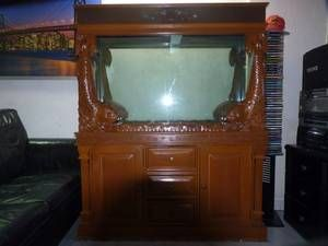 ft Antique Teakwood Fish Tank For Sale To Clear !   Singapore Region