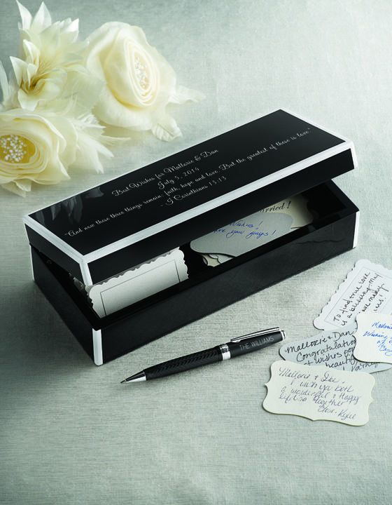 Unique, elegant wedding guest book