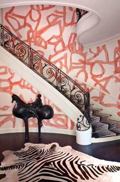 Kelly Wearstler wallpaper | Punk | Rock | Interiors | Pinterest