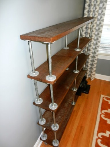 industrial shelving, bookshelf made from pipes,DIY Furniture