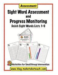 FREE sight word asse