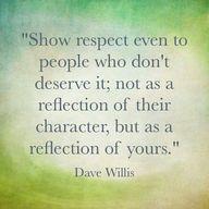 """Show respect even t"