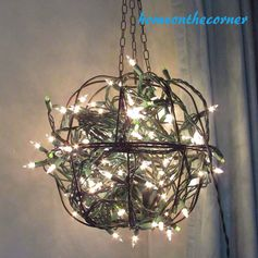 Outdoor Hanging Flower Basket Light | Home On The Corner - Featured at the #HomeMattersParty 57