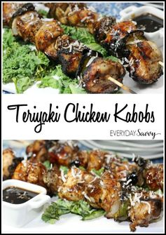 Teriyaki Chicken Kabobs Recipe   Everyday Savvy - Highlighted at the #HomeMattersParty 53
