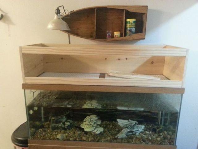 DIY   Above Tank Basking Area | My Shell Babies | Pinterest