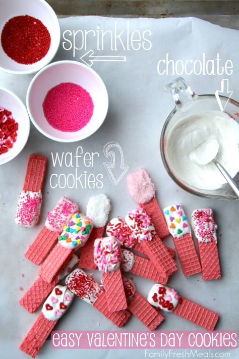 Super Easy Valentine's Day Cookies Recipe  __  FamilyFreshMeals.com #valentinesday