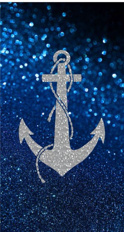 Blue glitter and sliver anchor pattern   Phone wallpapers   Pinterest