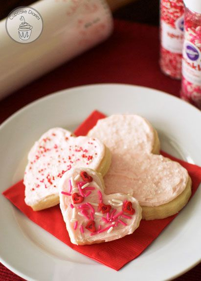 heart sugar cookies. perfect every time