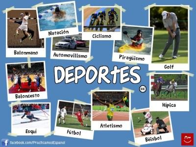 Los deportes | Español - vocabulario | Pinterest