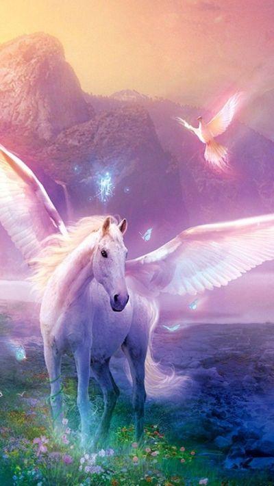 Unicorn iPhone Wallpaper | Color - Glitter Sparkle Glow Colorful | Pi…