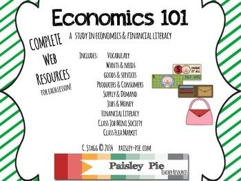 SOCIAL STUDIES: Economics 101- A Unit for 1st-3rd Grades